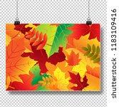 autumn banner isolated... | Shutterstock .eps vector #1183109416