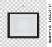 picture frame isolated... | Shutterstock .eps vector #1183109419