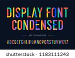colorful font. colorful... | Shutterstock .eps vector #1183111243