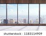 modern empty office interior... | Shutterstock . vector #1183114909