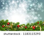 christmas green pine branches... | Shutterstock .eps vector #1183115293