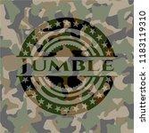 jumble on camouflaged texture   Shutterstock .eps vector #1183119310