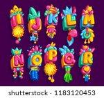 alphabet kids pendant color... | Shutterstock .eps vector #1183120453