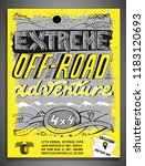extreme off road adventure.... | Shutterstock .eps vector #1183120693