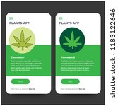 marijuana app ux ui design for... | Shutterstock .eps vector #1183122646