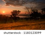 A beautiful sunrise over the rural countryside Bathurst in the New South Wales central tablelands