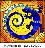 illustration in stained glass... | Shutterstock .eps vector #1183124296