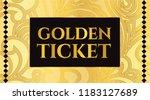 golden ticket template  concert ... | Shutterstock .eps vector #1183127689