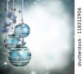 christmas theme with blue...   Shutterstock . vector #118312906
