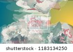 abstract cover template with... | Shutterstock .eps vector #1183134250