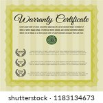 yellow retro vintage warranty... | Shutterstock .eps vector #1183134673