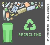 waste illustration with... | Shutterstock .eps vector #1183135096