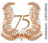 vignette for the 75th... | Shutterstock .eps vector #1183138636