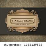 vintage frame in gold color and ...   Shutterstock .eps vector #1183139533