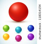 collection of colorful glossy... | Shutterstock .eps vector #118314154