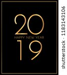 new year 2019 greeting card.... | Shutterstock .eps vector #1183143106