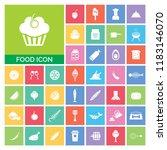 food icon set. very useful food ...   Shutterstock .eps vector #1183146070