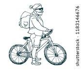 stylish sketch man on bike... | Shutterstock .eps vector #1183146676