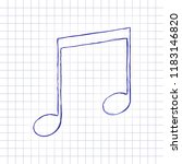 music note icon. hand drawn...