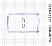 first aid box. simple icon.... | Shutterstock .eps vector #1183146850