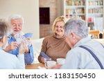 senior retired friends play... | Shutterstock . vector #1183150450