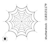 spiderweb and spider isolated... | Shutterstock .eps vector #1183151179