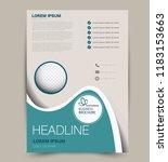 flyer template. design for a... | Shutterstock .eps vector #1183153663
