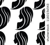 vector seamless pattern from... | Shutterstock .eps vector #1183156543