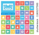 movie and cinema icon set. very ...   Shutterstock .eps vector #1183157500