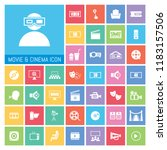 movie and cinema icon set. very ...   Shutterstock .eps vector #1183157506