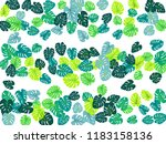 teal green tropical jungle... | Shutterstock .eps vector #1183158136