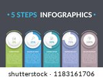 infographic template with five... | Shutterstock .eps vector #1183161706