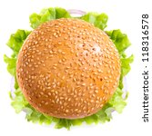burger isolated on white... | Shutterstock . vector #118316578
