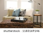 rattan trunk coffee table with... | Shutterstock . vector #1183169146