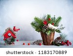 christmas and new year still...   Shutterstock . vector #1183170889