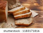 Bread On Wood Background Close...