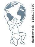 atlas titan holding globe. a...   Shutterstock .eps vector #1183173160