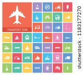 transport icon set. very useful ... | Shutterstock .eps vector #1183177270