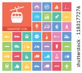 transport icon set. very useful ...   Shutterstock .eps vector #1183177276