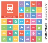 transport icon set. very useful ...   Shutterstock .eps vector #1183177279