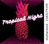 tropical night. vector poster...   Shutterstock .eps vector #1183179190