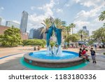 houston  texas  usa   august ... | Shutterstock . vector #1183180336