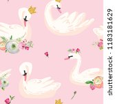 beautiful seamless pattern with ...   Shutterstock .eps vector #1183181629