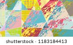 abstract collage asymmetric... | Shutterstock .eps vector #1183184413