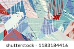 abstract collage asymmetric... | Shutterstock .eps vector #1183184416