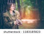 beautiful girl teen american...   Shutterstock . vector #1183185823