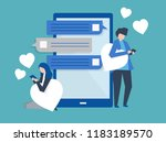 characters of a couple... | Shutterstock .eps vector #1183189570
