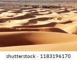 sand dune in the desert of... | Shutterstock . vector #1183196170
