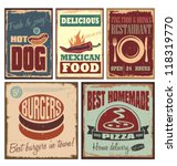 vintage style tin signs and... | Shutterstock .eps vector #118319770