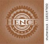 hence wood emblem. vintage. | Shutterstock .eps vector #1183197850
